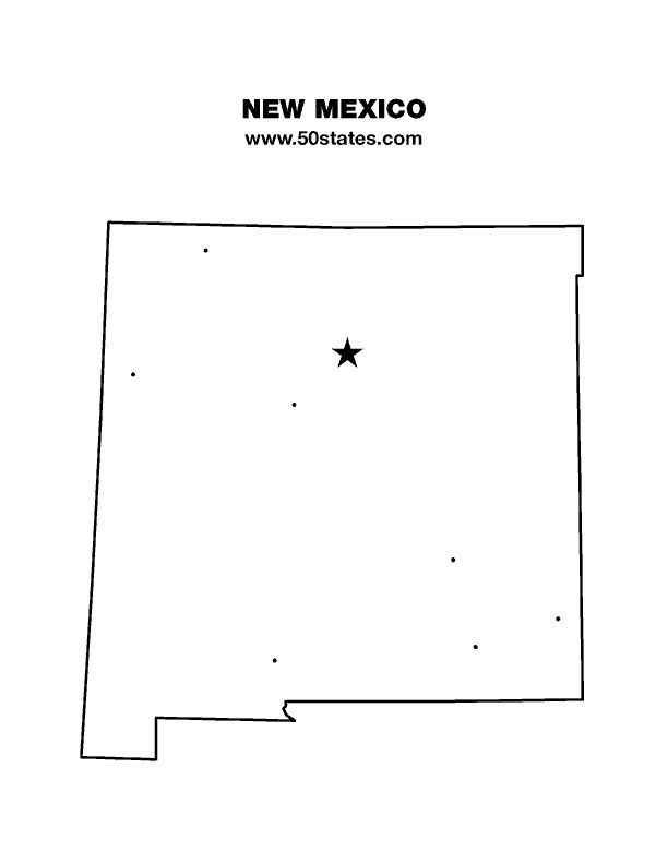 Best New Mexico Map Ideas On Pinterest New Mexico Land Of - New mexico state map