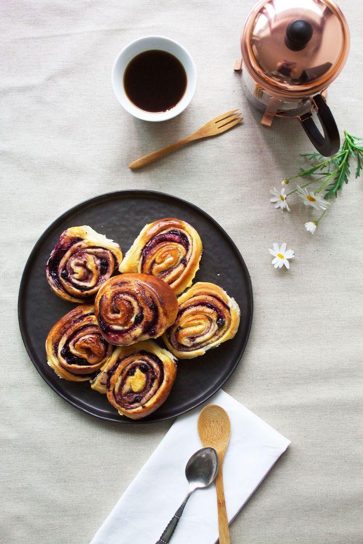 Blueberry buns // Blåbærsnegle