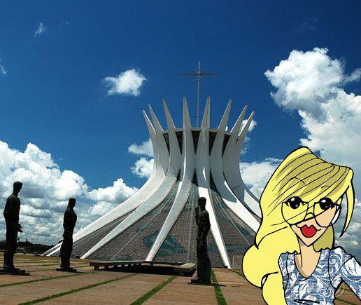 Essa catedral de Brasília me fascina tanto, o roteiro perfeito para uma boa dose de inspiração