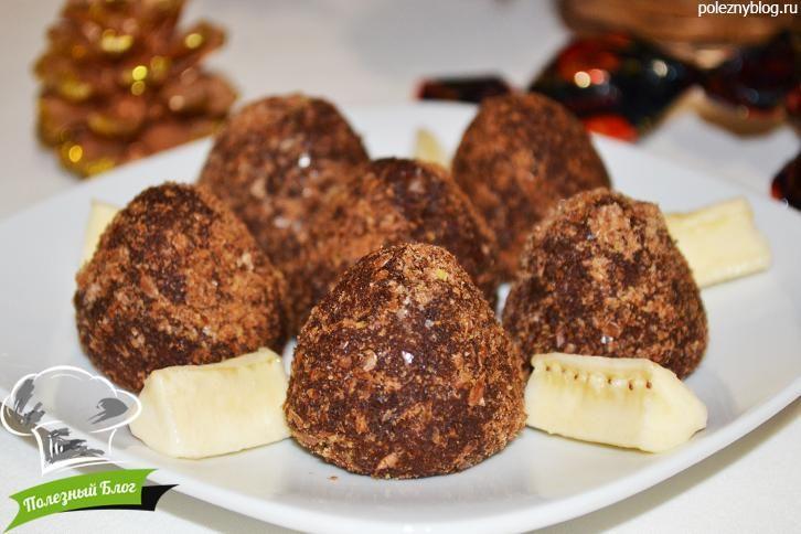 Пошаговый фото-рецепт полезных конфет из орехов, семян и сухофруктов - Льняных трюфелей с банановой начинкой | Полезные десрты, сладости | Полезный Блог | Полезно, красиво, просто, быстро и вкусно