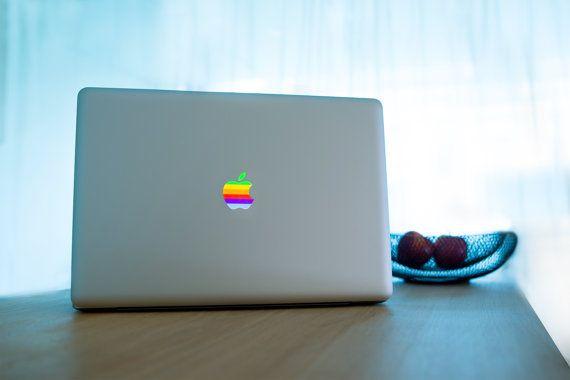 Stickers Macbook 11-13-15-17 inches - Rainbow Logo Apple
