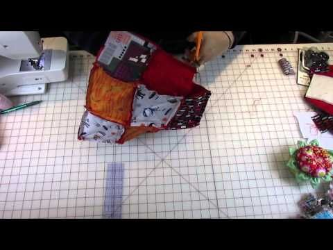 This is the best Rag Quilted purse tutorial.