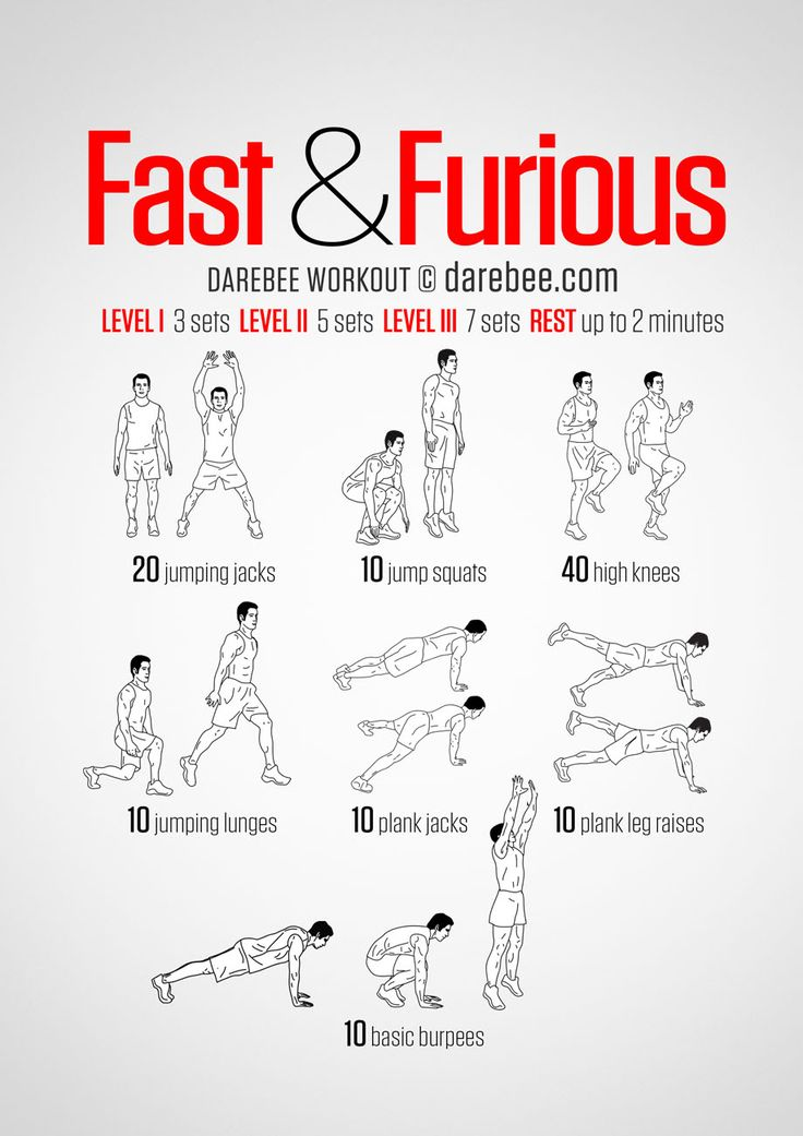 All Cardio No equipment Fast amp Furious Workout Seven