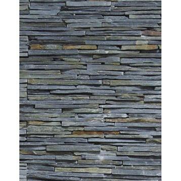parement de pierres, avec certaines pierres plus longues --> étagères, socles pour présentation