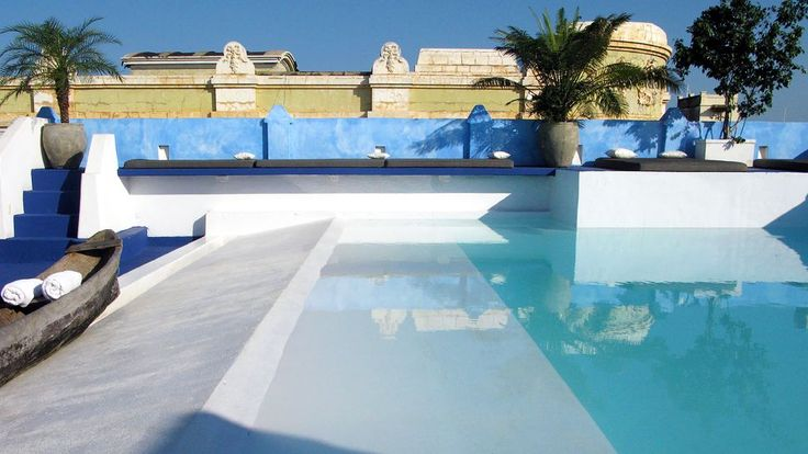 The sunny rooftop pool at LA PASSION.