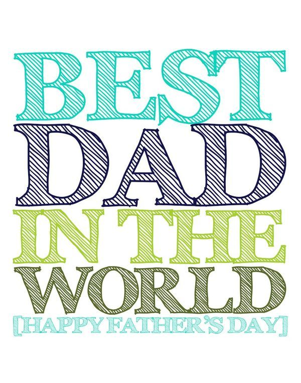 Awesome free Father's Day Printables. Perfect to decorate your home or to use as a card for dad!