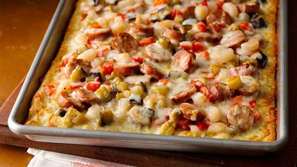 New Orleans Andouille Shrimp Pizza - Victoria Potts