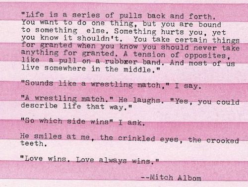 morrie schwartz and mitch albom relationship poems