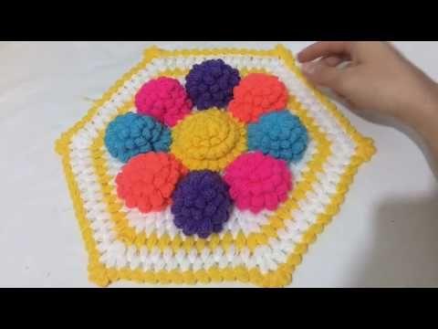 puf çiçekli lif modeli yapımı - YouTube