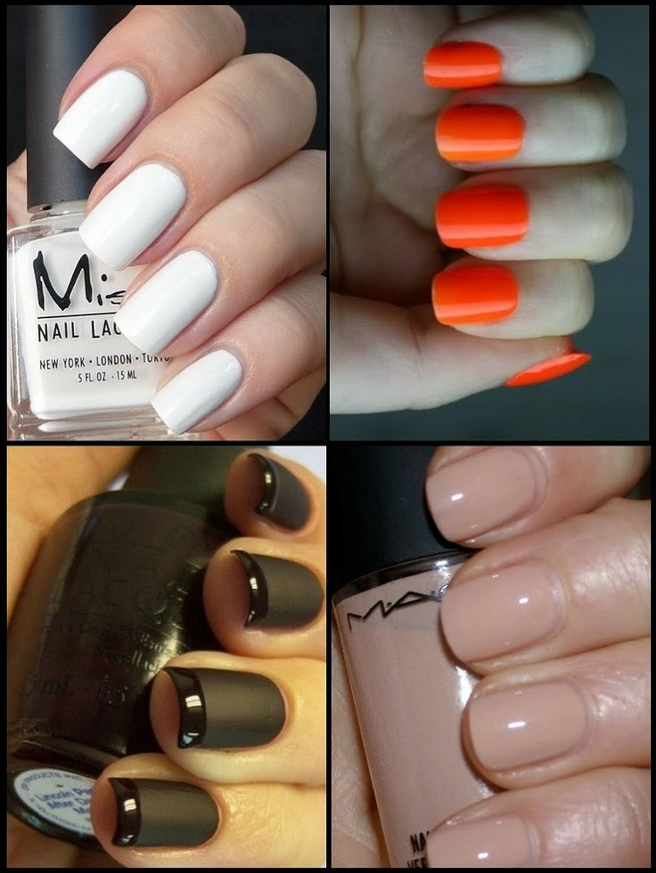 Nail trends 2014, whites, oranges, mattes, black, nudes for this year