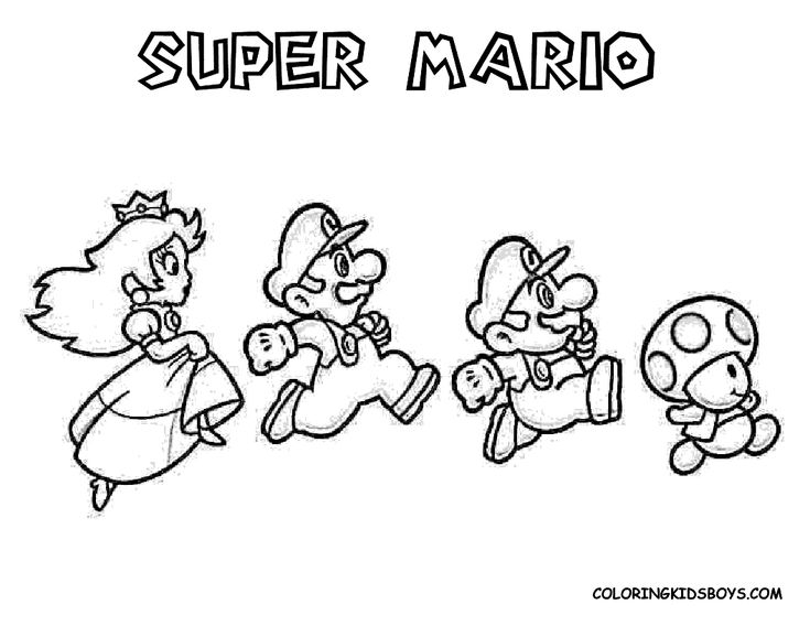 21 best Mario coloring images on Pinterest Coloring pages