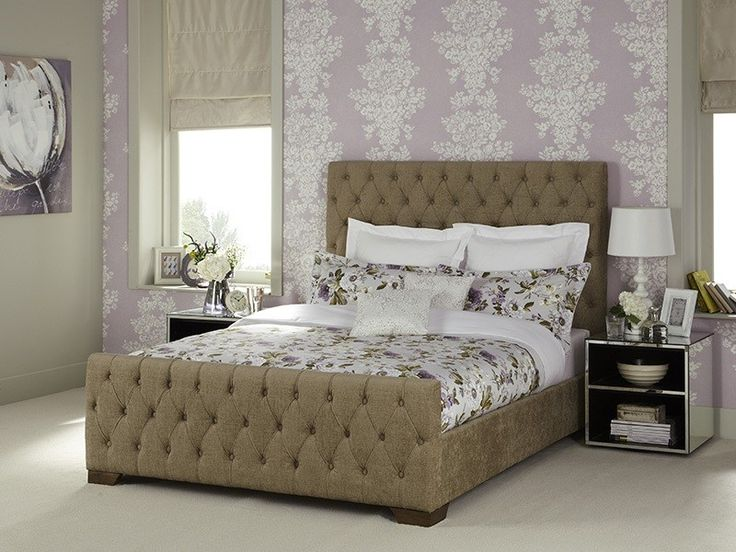 The luxurious Lillian fabric bed frame in fudge. Offers a sophisticated and elegant look for any bedroom.