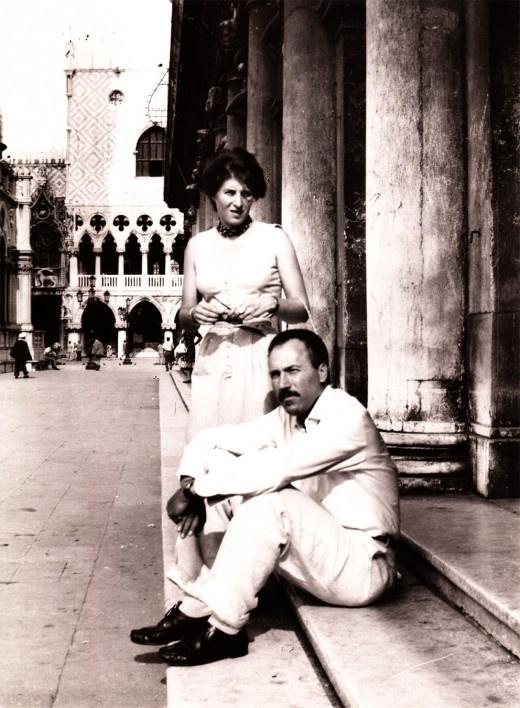 Ida Barbarigo and Zoran Music in Venice, 1950