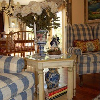 Buffalo Check On Chairs French Country Living Room