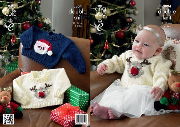 King Cole DK Knitting Pattern - 3804 Christmas Sweaters: Amazon.co.uk: Baby