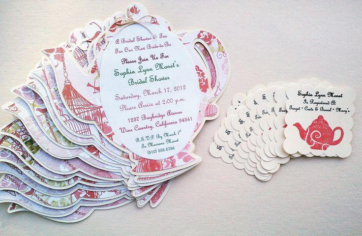 Baby Shower or Bridal Shower Registry Cards
