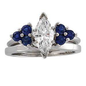 The Ice Chest Round Sapphire Solitaire Enhancer Blue