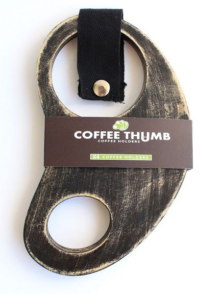 Coffee thumb coffee holders. Holds up to 4 coffees. Made from Certified Australian Hoop pine. By Mutating Creatures