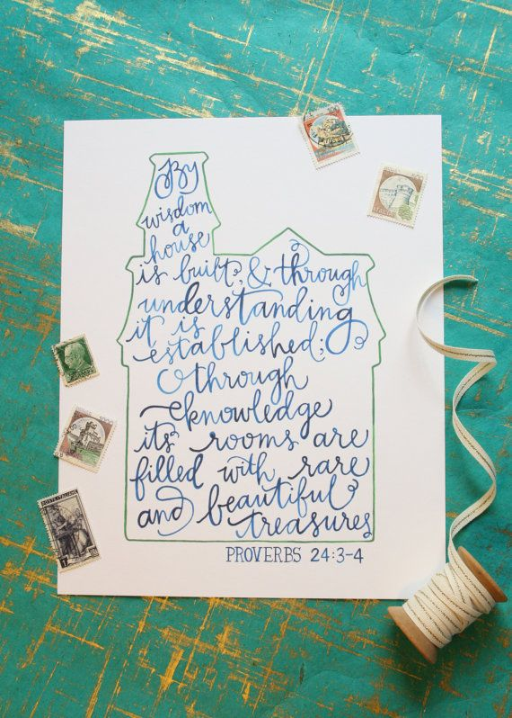 Proverbs 24:3-4 Victorian house print by Riley Writes Scout