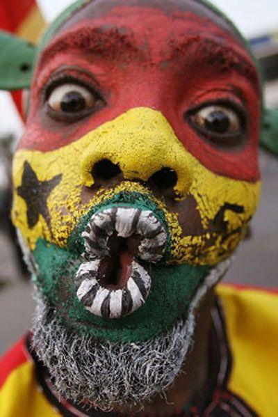 Ghanaian football fan...