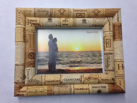 Cork Picture Frame by ZandersCreation on Etsy
