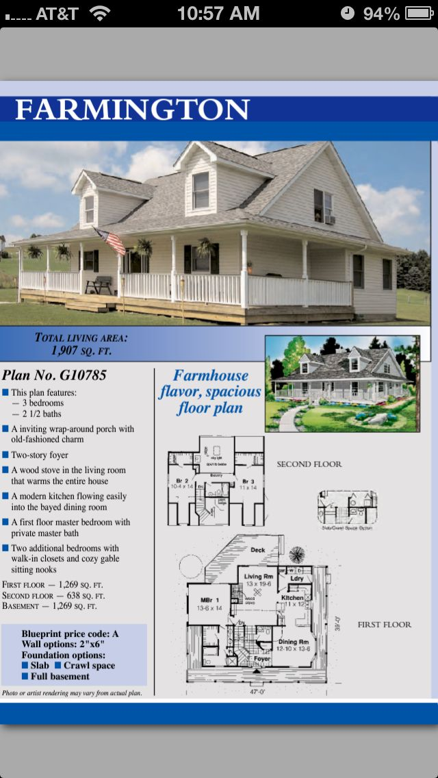 84 Lumber Farmington House Plans Dream House Pinterest