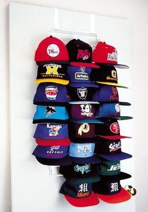 How to organize hats http://comoorganizarlacasa.com/en/how-to-organize-hats/ Cómo organizar las gorras #Howtoorganizehats #Ideasfororganizing #Organizationtips #Organizingtips #Tipsfororganization