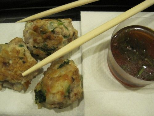 Shrimp and Pork Meatballs with Dipping Sauce - Dukan diet recipes