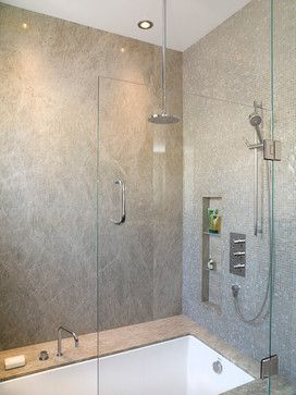 Master Suite His Modern Bathroom Portland By