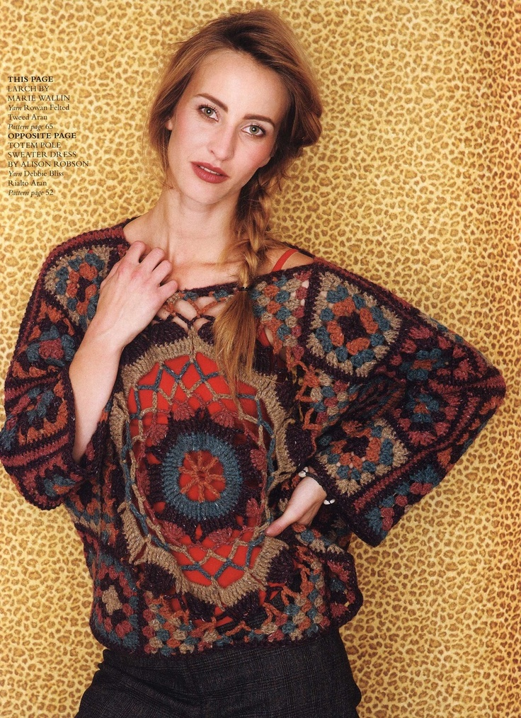 Marie Wallin: 'Larch' Crochet Jumper Pattern ~ http://www.liveinternet.ru/users/irina_karpenko/post192953506/