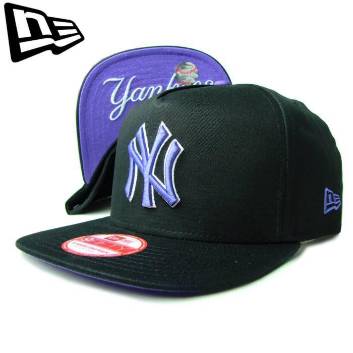 """【ニューエラ】【NEW ERA】9FIFTY NEW YORK YANKEES NY """"FLIP UP"""" ブラックxパープル アンダーバイザー【CAP】【newera】【帽子】【スナップバック】【snap back】【snapback】【紫】【黒】【ニューヨーク・ヤンキース】【キャップ】【あす楽】【楽天市場】"""