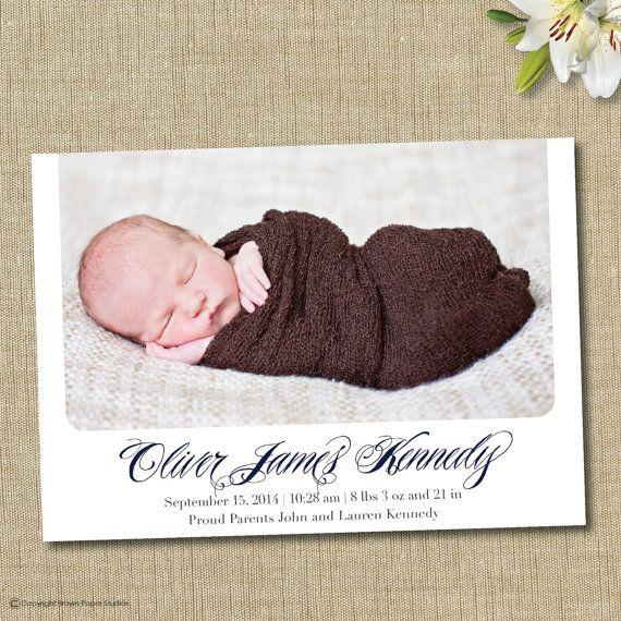 17 Best images about Birth Announcements – Elegant Birth Announcements