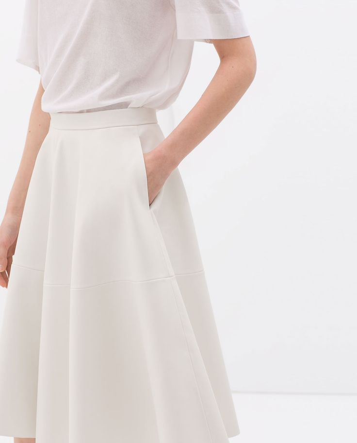 FAUX LEATHER FLARED SKIRT from Zara