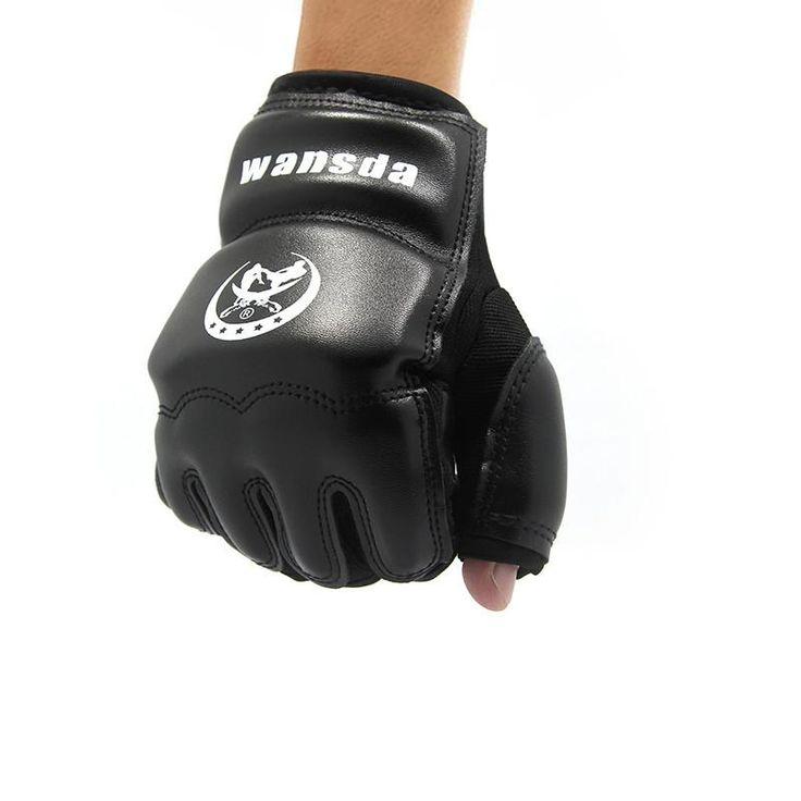 Kick Boxing Gloves MMA Muay Thai Training Boxing Half Mitts PU Leather
