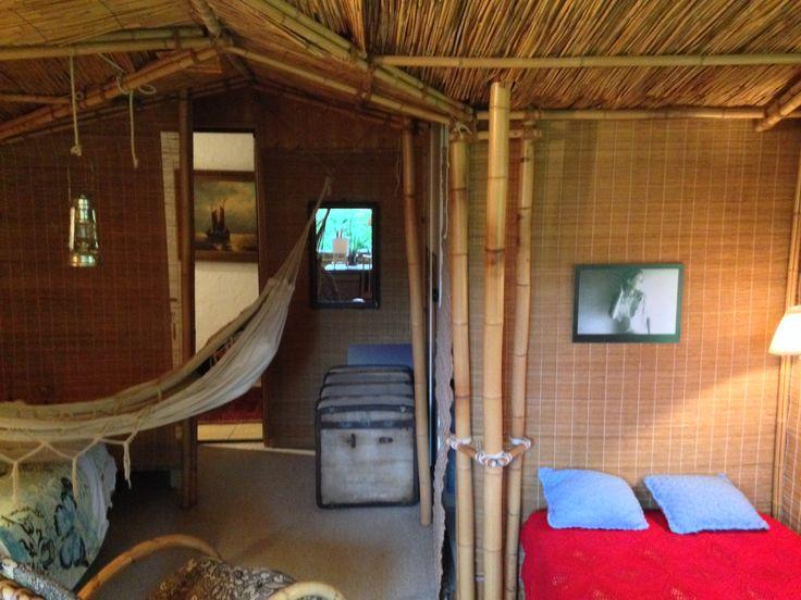 Mein Bett in der Bambushūtte