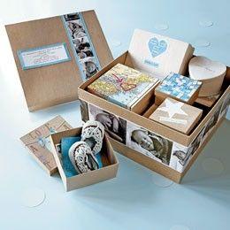 DIY : une boîte de naissance « Le jour où tu es né »
