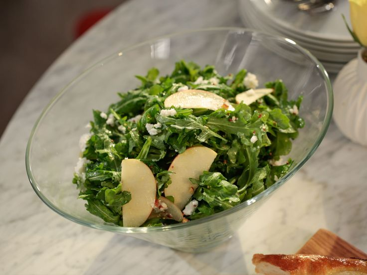 Smoky Arugula and Apple Salad recipe from Giada De Laurentiis via Food Network (served with spicy rigatoni with greens)