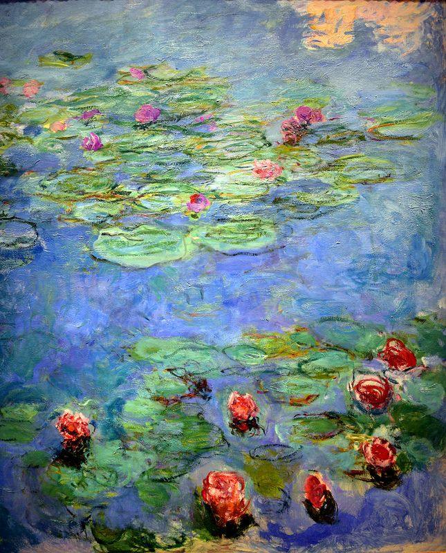 Claude Monet - Water Lilies, 1917 at the Legion of Honor (Fine Arts Museums of San Francisco CA)
