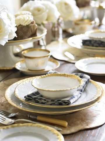 gold rimmed white Limoge china · China SetsCeramic TablewarePlace ... & 75 best Luscious Limoges images on Pinterest   Limoges china ...