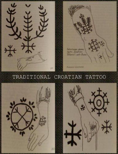 Traditional tattooing Croats