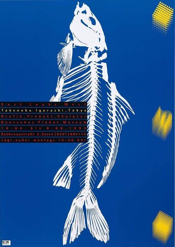 Takenobu Igarashi Japan Year exhibition, at the Deutsches Plakat Museum, Essen, Germany - 1993.