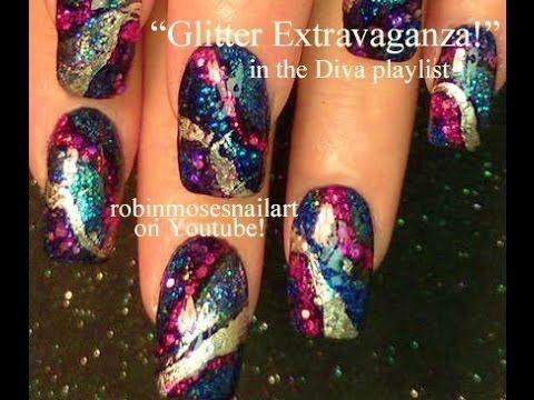 Glitter Bling Nail Art
