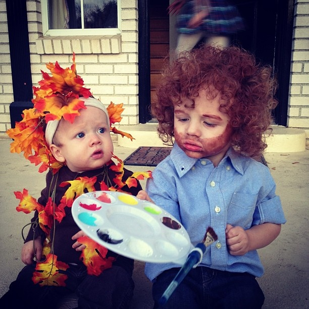 Oh man I so love this! Maybe ill be the happy trees and Logan can be bob Ross.
