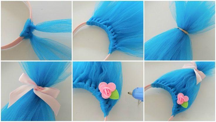 Troll Haare mit Tüll selber machen