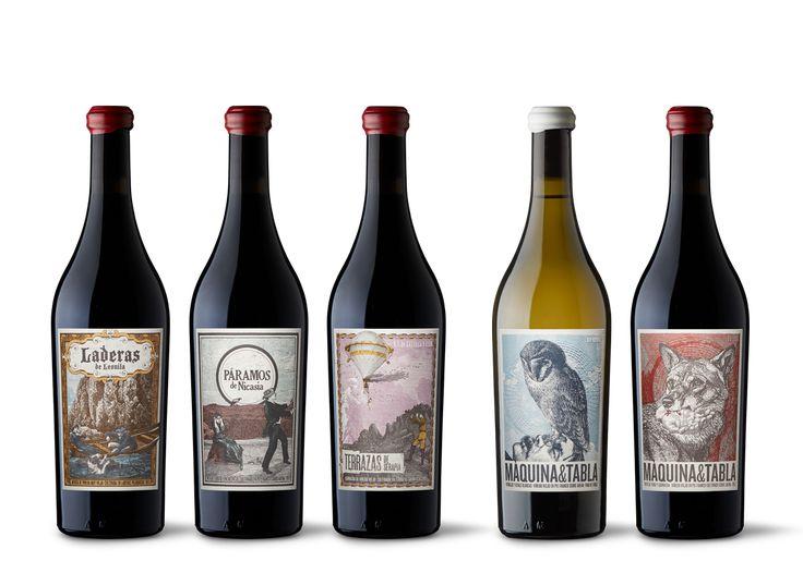 Etichette di vino di designer divini