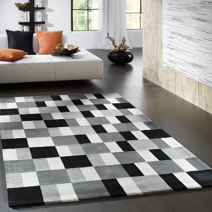 Die besten 25+ Teppich schwarz weiß Ideen auf Pinterest schwarz - teppich wohnzimmer beige
