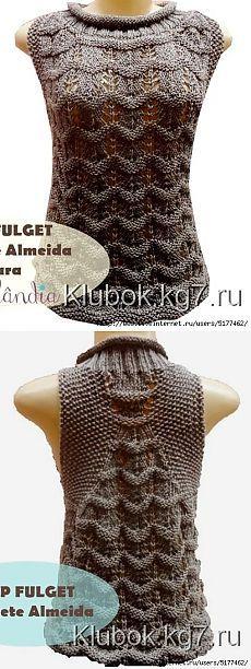 Вязание: безрукавка спицами
