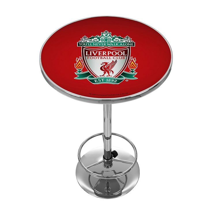 Liverpool FC Chrome Pub Table, Red