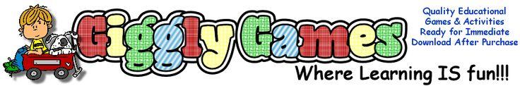 Giggly Games.. File Folder Games for Sale