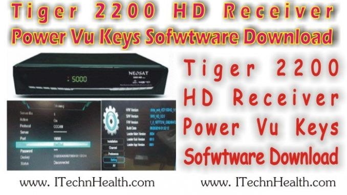 Tiger 2200 HD Receiver Key Software Download | Mr  Dish
